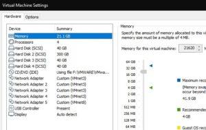 ESXi virtual machine configuration